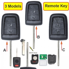 2006-2013 Chevrole*t VE Commodores Remote Key 433MHz 3/ 4/ 5 Buttons with GM45 Blade