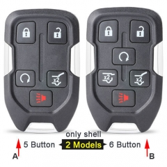 2015-2017 Chevrole*t GMC Smart Remote Key Shell 5/ 6 Buttons with Emergency Blade Uncut for Suburban Tahoe/ Yukon XL