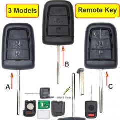 2006-2013 Chevrole*t VE Commodores Remote Key 433MHz 3/ 4/ 5 Buttons with HU43 Blade