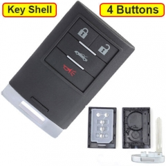 2008-2013 Cadilla*c XLR Chevrole*t Corvette Smart Remote Key Shell 4 Buttons with Emergency Blade Uncut