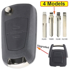 Modified Flip Key Remote Shell 2 Buttons for Opel Vauxhall Astra Zafira Omega Vectra Frontera