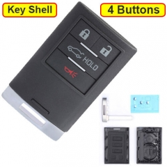 2013 2014 Cadilla*c XTS ATS Smart Remote Key Shell 4 Buttons with Emergency Blade Uncut