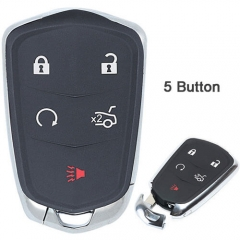 2017 Cadilla*c XT5 Smart Remote Key 433MHz 5 Buttons with Emergency Blade Uncut -HYQ2EB