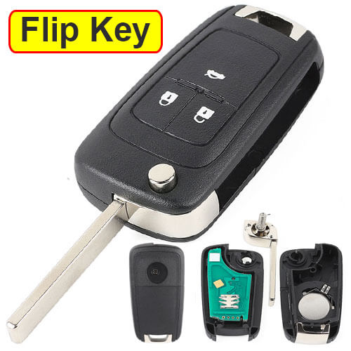 2009-2015 Opel Vauxhall Flip Key Remote Fob 315/ 433 MHz 3 Buttons with HU100 Blade for Insign Astra J Cascade