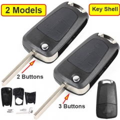 Opel Vauxhall Flip Key Remote Shell 2/ 3 Buttons with HU100 Blade Uncut for Astra Vectra Corsa Signum