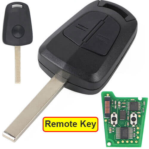 Opel Vauxhall Car Key Remote 433MHz 2 Buttons Fob with HU100 Blade for Astra H Zafira B Corsa D