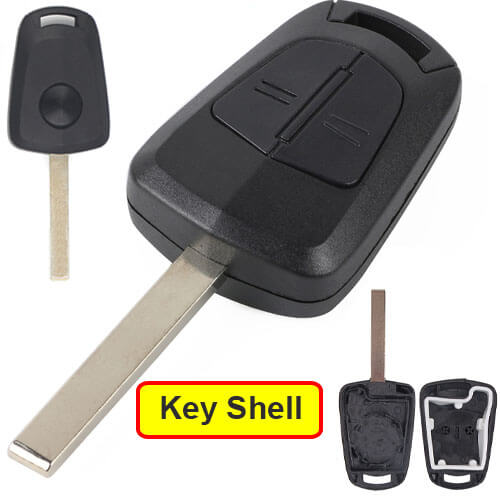 Opel Vauxhall Car Key Remote Shell 2 Buttons Fob with HU100 Blade for Astra H Zafira B Corsa D