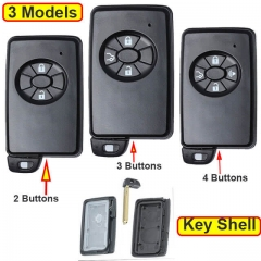 Toyot*a Smart Key Remote Shell 2/ 3/ 4 Buttons with Emergency Blade Uncut -Black
