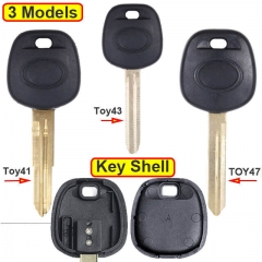 Toyot*a Transponder Key Shell with Blade Uncut TOY41/ TOY43/ TOY47