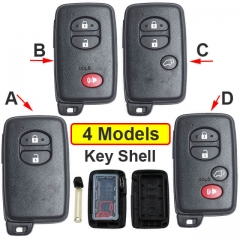 2007-2011 Toyot*a Highlander Smart Key Remote Shell 2/ 3/ 4 Buttons with Emergency Blade Uncut -SUV