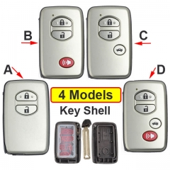 2008-2013 Toyot*a Land Cruiser Smart Key Remote Shell 2/ 3/ 4 Buttons with Emergency Blade Uncut