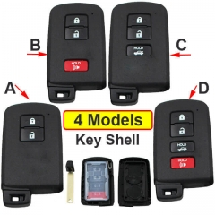 2012-2016 Toyot*a Prius C Smart Key Remote Shell 2/ 3/ 4 Buttons with Emergency Blade Uncut
