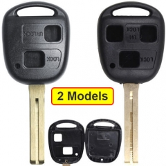 Toyot*a Combo Remote Key Shell 2/ 3 Buttons with Toy48 Blade Uncut