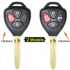 2007-2013 Toyot*a Scion Yaris Remote Key-MOZB41TG 312MHz 3/ 4 Buttons with Toy43 Blade