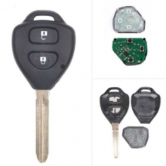 2006-2013 Toyot*a Corolla Remote Key-89070-12501 314.4/ 433MHz 2 Buttons with Toy43 Blade