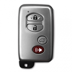 Silver Smart Key SUV Remote Card 4 Buttons with TOY48 Emergency Blade for Toyot*a