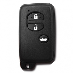 Black Smart Key Remote Card 433MHz 3 Buttons (Trunk) with TOY48 Emergency Blade for Toyot*a
