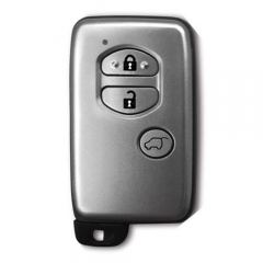 Silver Smart Key Remote Card 3 Buttons (SUV) with TOY48 Emergency Blade for Toyot*a