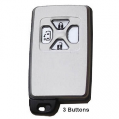 Toyot*a Smart Key Remote Card-0780 433MHz ID71-WD01 3 Buttons with TOY48 Emergency Blade -Silver