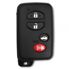Black Smart Key Car Remote Card 4 Buttons with TOY48 Emergency Blade for Toyot*a