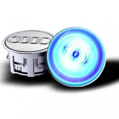 2018 AUDI A6 LED Floating Wheel Hub Caps Plug and Play Waterproof Wheel Center Hubcap Badge