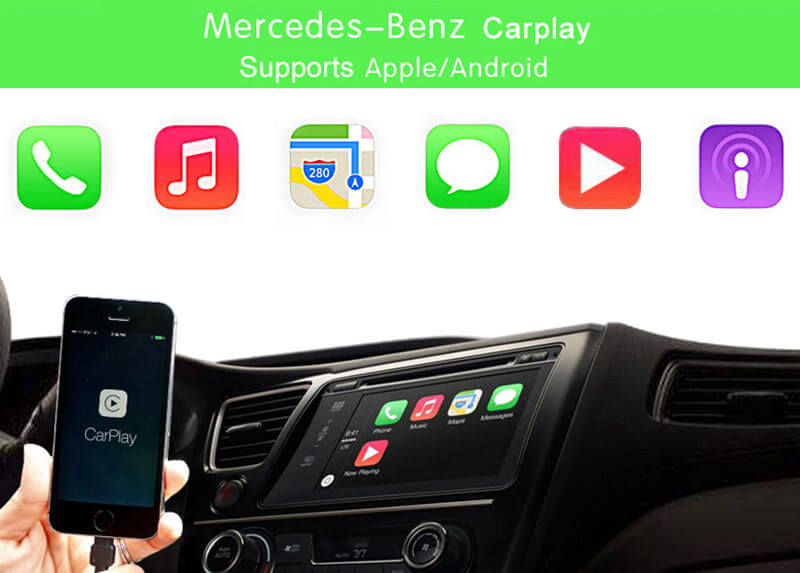 Mercedes AUX Activation OBD Tool for Benz NTG5 Apple CarPlay and Android
