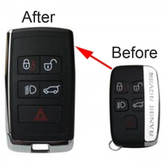 Upgrade LandRover Smart Key Shell for Evoque Discovery 4 Remote Fob 5 Buttons