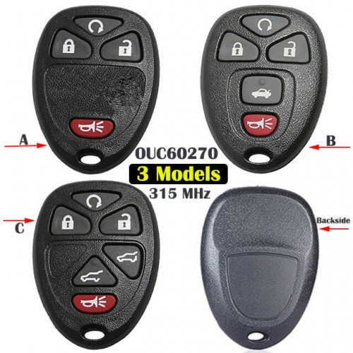 Buick Chevrole*t Cadilla*c Keyless Entry Remote Control 315MHz -OUC60270