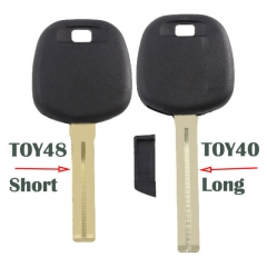 No Logo Transponder Key Shell for Lexus Toyot*a with Toy40 Toy48 Blade Uncut