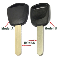 No Logo Acura Hond*a Transponder Key Shell with HON66 Blade Uncut