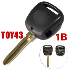 No Logo Side 1 Button Remote Key Shell with Toy43 Blade for Toyot*a