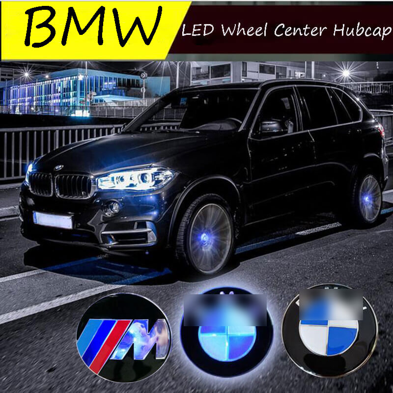 Waterproof Led Floating Wheel Center Hubcaps 56mm With