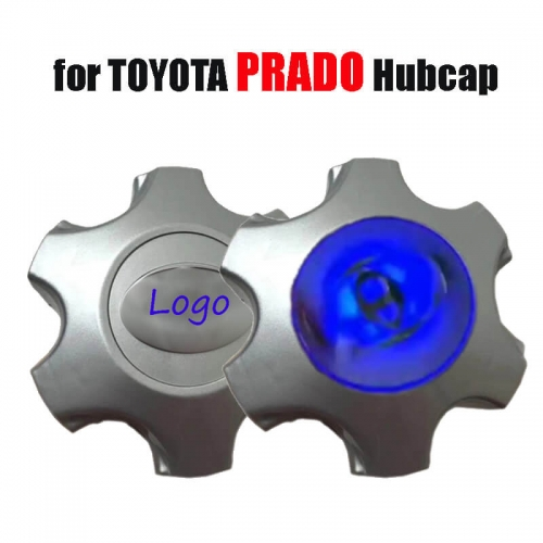 Magnetic Suspension Led Emblem Floating Wheel Hub Cap Cover Waterproof Blue Light Wheel HubCaps for LAND CRUISER PRADO
