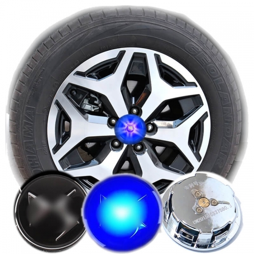 59MM DS Badge LED Floating Car Wheel Hub Caps Plug and Play Waterproof Wheel Center Hubcap