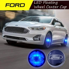 54mm Blue Lighted Ford Wheel Cap Emblem LED Floating Car Wheel Center Hub Caps for Focus Fusion Escort Taurus Kuga