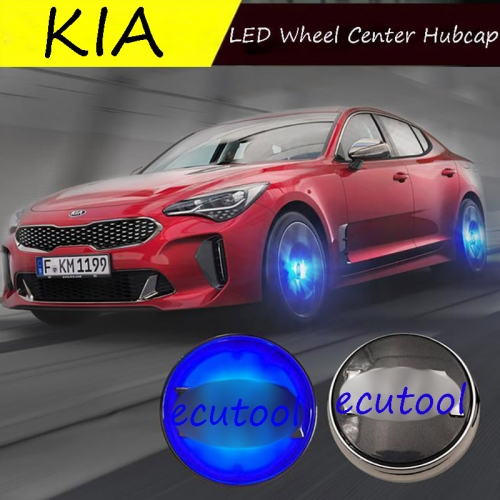 58MM KIA LED Floating Badge Hub Light Wheel Center Cap Cover with Logo for K5 RIO Forte Optima SEED SOUL SPORTAGE Venga