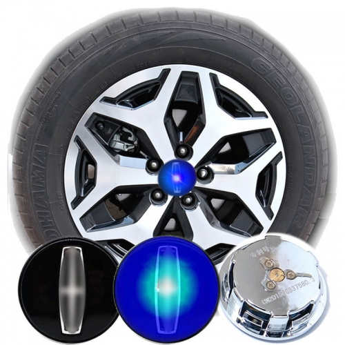 54MM Led Car Wheel Cap Floating Wheel Center Logo Waterproof Blue Light LIN*COLN MKZ MKC MKX MKS Hub Lamp