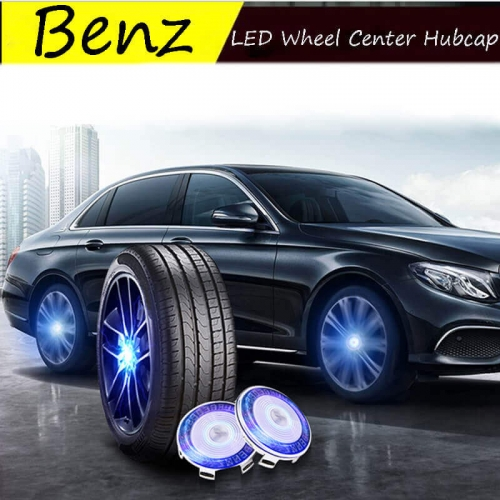 Waterproof Mercedes Benz LED Floating Wheel Hub Caps Plug and Play Wheel Center Hubcap Badge