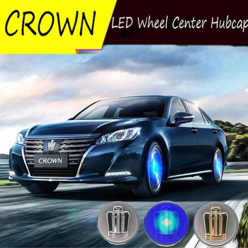 62MM Toyot*a Crown Badge LED Floating Car Wheel Caps Plug and Play Waterproof Wheel Center Hubcap