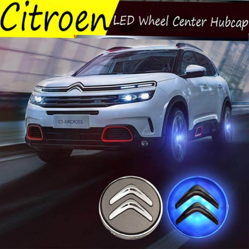 59MM Citroe*n Led Floating Wheel Center Cap Cover with Blue Light Logo for New 2013 C3-XR C4L C5 C6 2016 Elysee Sega