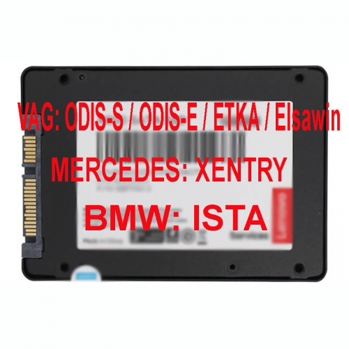 VAG ODIS FULL + BMW ISTA + MERCEDES Xentry Car Diagnostic Software SSD For VAS6154 VAS 5054A Mb Star C4 ICOM Next