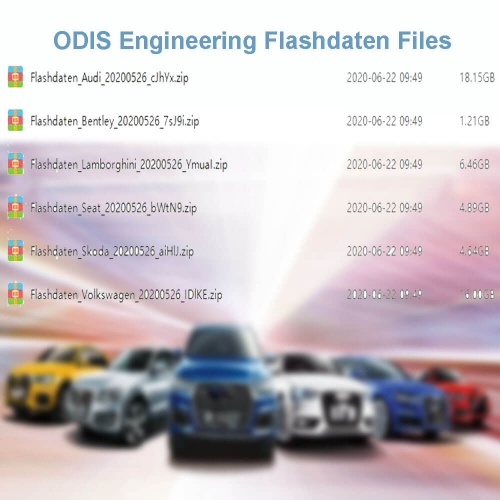 Download Link ODIS Engineering Flashdaten Files for VW AUDI SEAT SKODA BENTELY LAMBORGHIN*I Cars