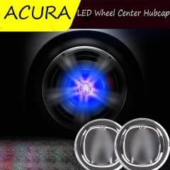 69mm ACURA LED Floating Logo Car Wheel Center Caps Blue Light Led Hub Cover Hub Light for ILX RLX MDX ZDX RDX NSX TSX RL TL