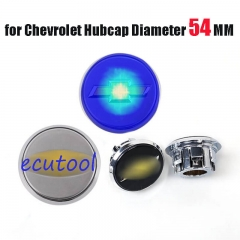 54MM Floating Wheel Center Caps Blue Light Led Logo for 2013 Cruze Malibu Equinox 2016 Captiva Onix Trax