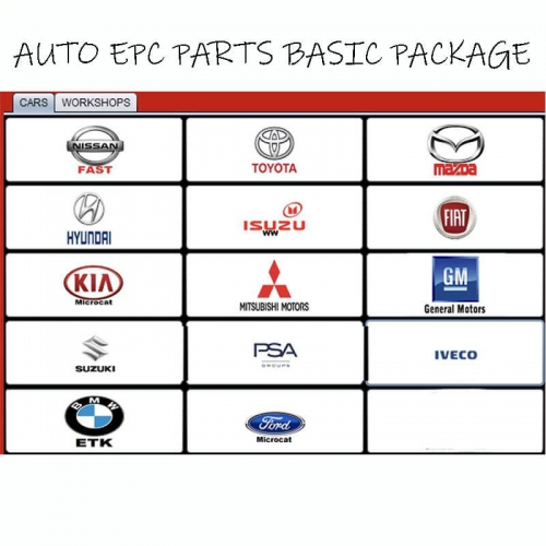 (30 Days) Multi Models AUTO EPC PARTS BASIC PACKAGE via Remote Desktop Connection